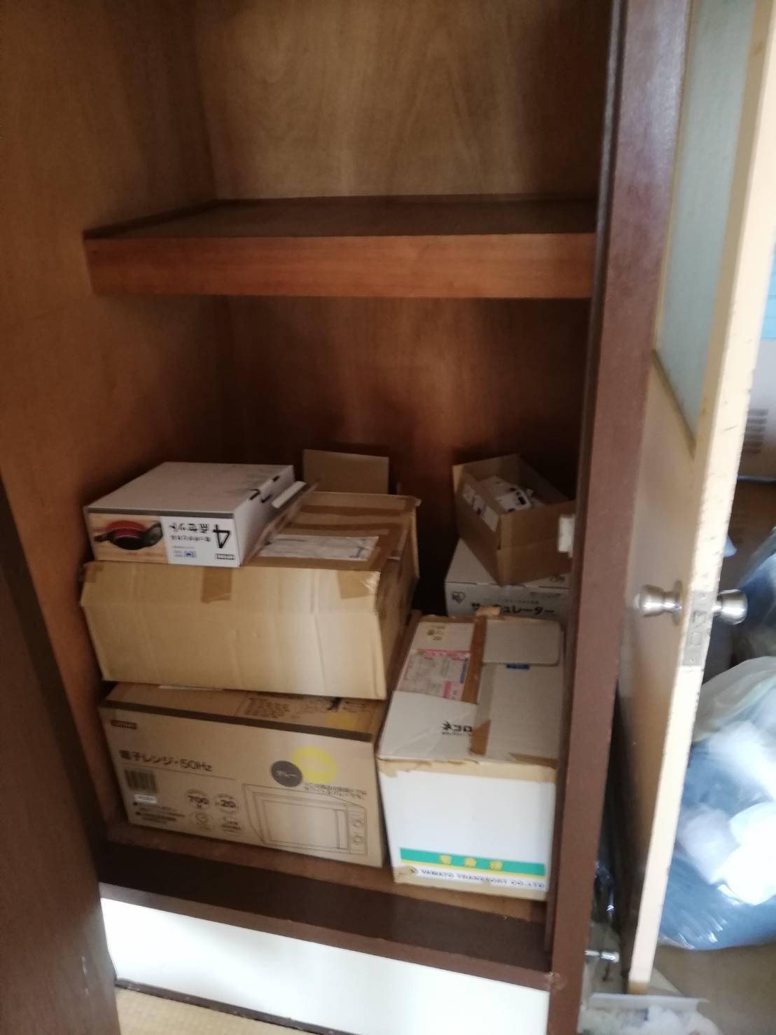 横浜市神奈川区での遺品整理の作業前